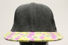 Gris Con Floral BILL - City Hunter MARCA - SNAPBACK AJUSTABLE gorra sombrero