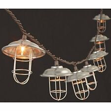 Silver Metal Cage Patio String Lights Clear Bulbs 2201240 Gerson Wedding Outdoor