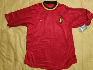 10/10 BNWT! Belgium 2000 2002 Nike SHIRT JERSEY Vintage KBVB Euro World Cup UEFA