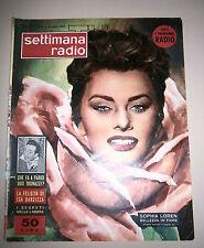 SETTIMANA RADIO TV # Settimanale - Anno II - N.27 # 3/9 Luglio 1955-Sophia Loren