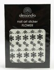alessandro NAIL STICKER - BLACK FLOWER *NEU + OVP*