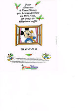 PUBLICITE advertising  1992   EURO DISNEY    ( recto verso avec IBM)