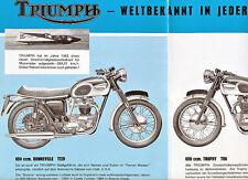 Triumph - Motorradprogramm - Prospekt - 1967  - Deutsch -  nl-Versandhandel