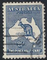 1915 SG 25 2 1/2d 2nd Wmk Kangaroo Indigo Scarce FU Roo Second Watermark CV$40