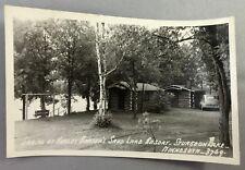 c 1940 STURGEON LAKE Minnesota SAND LAKE RESORT Barton RPPC Real PHOTO Postcard