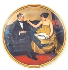 "Norman Rockwell ""Flirting in the Parlor"" Vintage Collectible Plate Fine China"