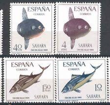 SAHARA Edifil # 252/255 ** MNH Set. Peces / Fish