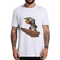 Cute Baby Yoda T-shirt Mandalorian Star Wars Fan Gift  Men's Hoodies Tops Xmas