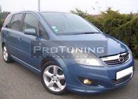 Vauxhall Opel Zafira B MK2 09-11 Front Bumper spoiler lip splitter addon chin