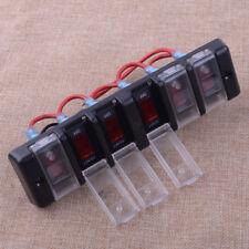 12//24V 6Gang Car LED Wippschalter Marine Boot Schaltung Schutzschalter Kontrolle