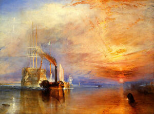 JMW Turner Fighting Temeraire Vintage Wall Art Poster Print Picture Giclee