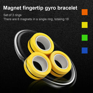 NEW Magnetic Finger Ring Toy Fidget Spinner Anxious Stress Relief Kids Adult Toy