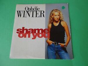 "OPHELIE WINTER ""Shame on you "" CD SINGLE 1993"