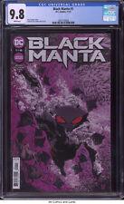 Black Manta #1 2021 CGC 9.8 - Chuck Brown story Valentine de Landro cover & art