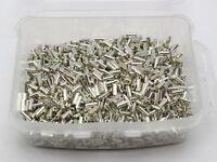 3000 Glass Tube Bugle Seed Beads 2X5mm Metallic Silver + Storage Box