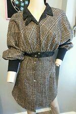 Billy Reid Diseño 'Pata De Gallo' rayas con botones 100% Lana Vestido camisero 2