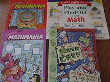 Math Supplement books (Math Chef/Mathmania/Play & Find Out About Math)