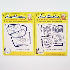 Vtg Aunt Martha's Hot Iron Transfers Embroidery Patterns Several Stampings Craft