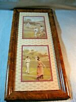 "HUNTLEY & PALMER'S MULTIPLE SPORT PHOTOS -WOOD FRAME MICA 22 1/2"" x 10 1/2""."