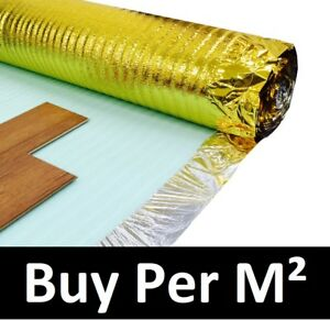 3mm Acoustic Gold Underlay - For Wood or Laminate Flooring - Top Quality
