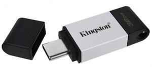 Kingston DT80 Data Traveler 64/128/256GB USB 3.2 TypeC Flash Drive Phones Tablet