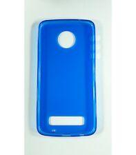 Funda de gel TPU carcasa protectora silicona para Motorola Moto Z Play Azul