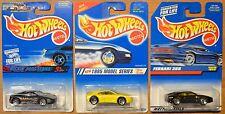 Hot Wheels Ferrari 355 x3, Rockin' Rods, #813 Black, 1995 New Models Yellow