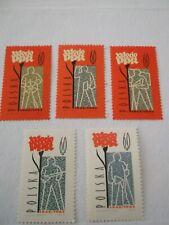 1962 Poland 20th Anniversary of Polish Workers Coalition u/m Mi.1276/80, D9