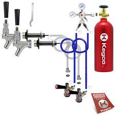 Kegco Kegerator 2 Keg Tap Door Mount Draft Beer Dispense Conversion Kit CO2 Tank