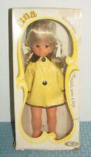 "Vintage Playmates 11"" Tina Doll Wearing Yellow Raincoat With Original Box  6122"
