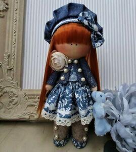 Rag doll handmade in the UK Tilda doll Ooak doll SAPPHIRE 8 inch tall