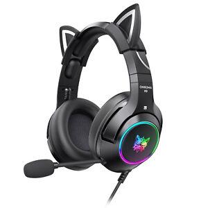 ONIKUMA K9 Gaming Headset Cat Ear RGB Lights Stereo Headphones