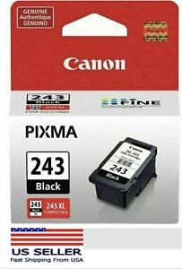 NEW Genuine Canon PG 243 Black Ink Cartridge (1287C001) FREE SHIPPING