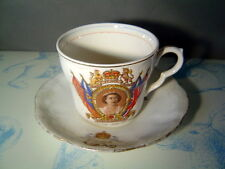 Great Britain Queen Elizabeth II Coronation Souviner Cup and Saucer June 2 1953