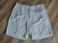 Tommy Bahama Relax 100% Silk Shorts Pleated Front Mens Sz 38
