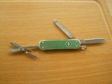 Victorinox Classic SD Swiss Army knife in green Alox - blank panel