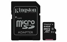 Kingston SDCS/64GB Canvas Select UHS-I microSDXC Memory Card mit SD Adapter
