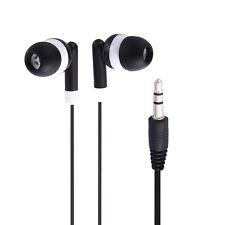 3.5mm In Ear Headphone Earbud Earphone for MP3 MP4 PDA PSP Players Laptops Black