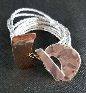 RLM Studio Robert Lee Morris 925 Sterling / Bronze Bracelet 7.5