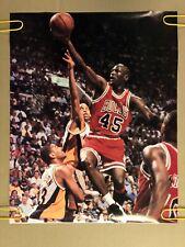 Michael Jordan Original Vintage Poster Bulls 1990's 45 Retirement Chicago Bulls