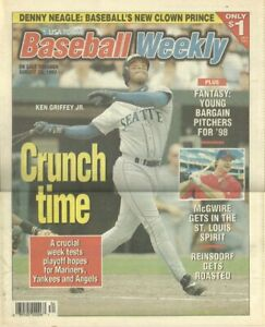 Ken Griffey Jr. Mariners Mark McGwire USA Today Baseball Weekly Aug 20-26 1997