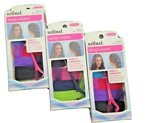 Scunci Design Weaving Mesh Fabric Through any Hair Styles 5 Piece Kit Multicolor
