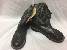 """ROPERS FAT BABY BOOTS WOMENS BLACK  7.5 SPARKLE COWGIRL WESTERN ROUND TOE 9"""""""