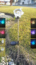 Set of 3 Garden Decoration Solar Clear Acrylic Pig Yard Stick Color Change light