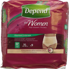 Depend Incontinence Pants Women Female Extra Large 9s (Pack of 3)