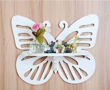 "12"" Butterfly Shelves Wall Rack Wood Home Goods Holder Storage Hanger"