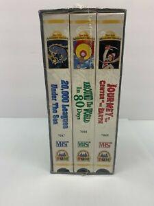 JULES VERNE ADVENTURE CLASSICS SET OF 3 VHS TAPES