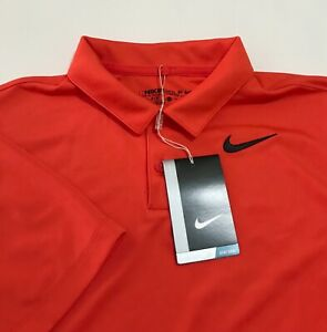 $30 NWT Nike Golf Boy's Victory Solid Polo Shirt Orange XL