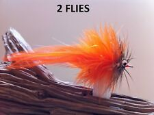 Seaducer/Deep Silhouette Fly Orange/Furnace (2Flies) Mustad #1/0 redfish striper