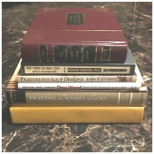Lot Of 6 Christian Religious Books Great Authors Prayer Psalms Life Guides